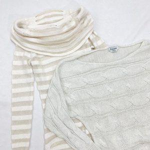 Lot of 2 BEBE Cream Sweaters